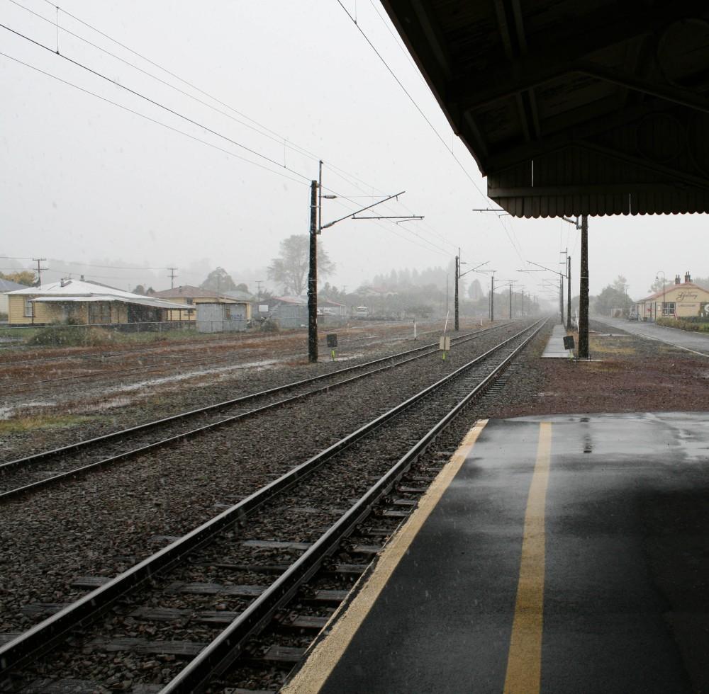 First Snow - Railway Station, Ohakune